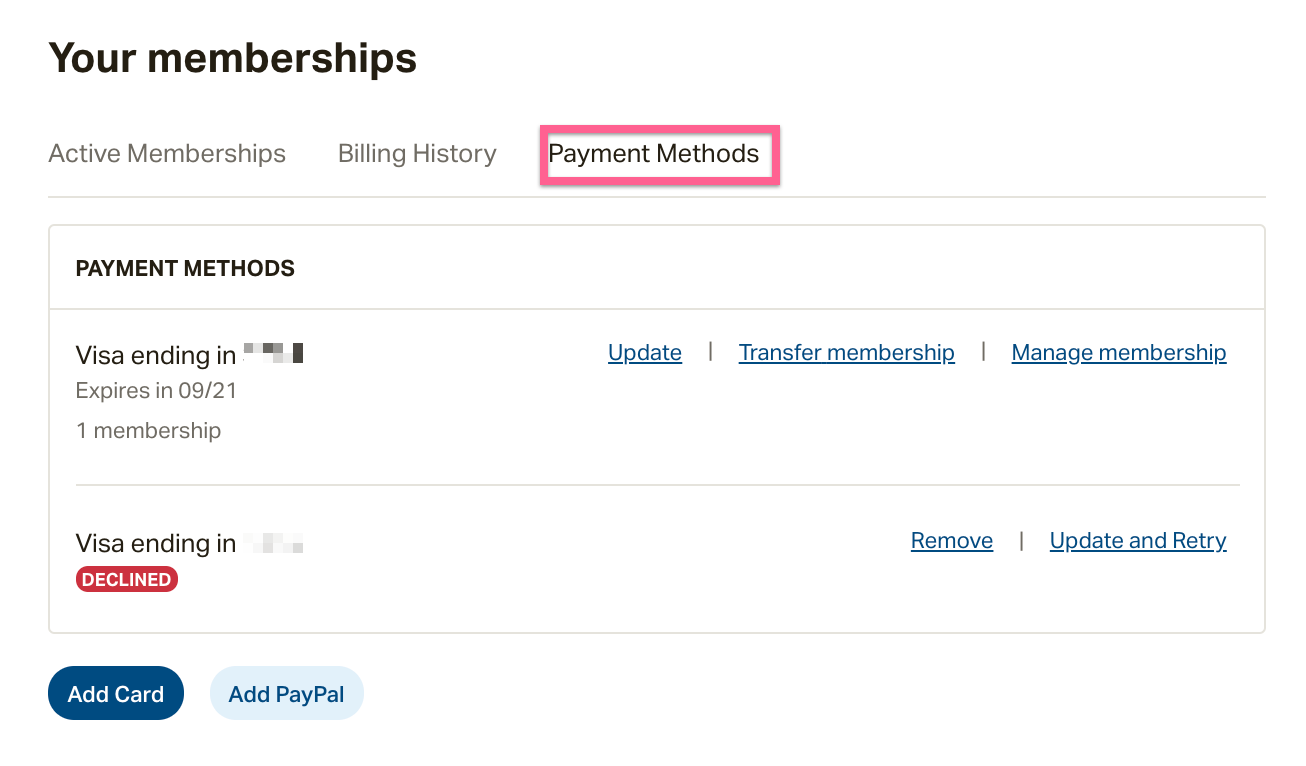 Why did my payment decline? How do I retry my payment
